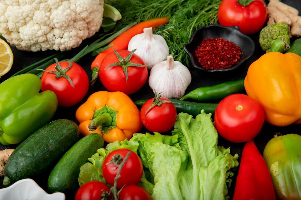 Bio-Gemüse im Hochbeet