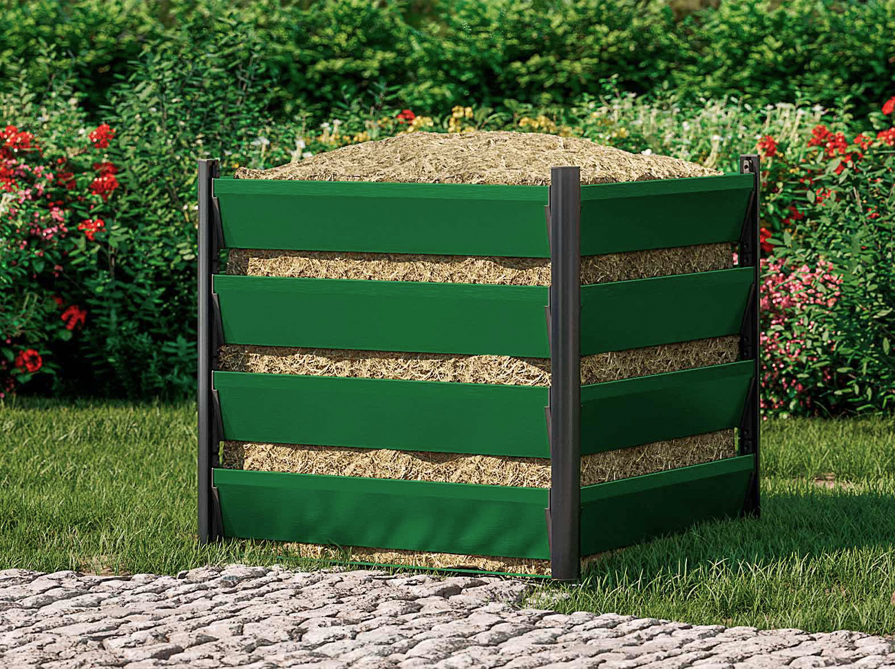 komposter-90x90-5h-gruen-geschlossen